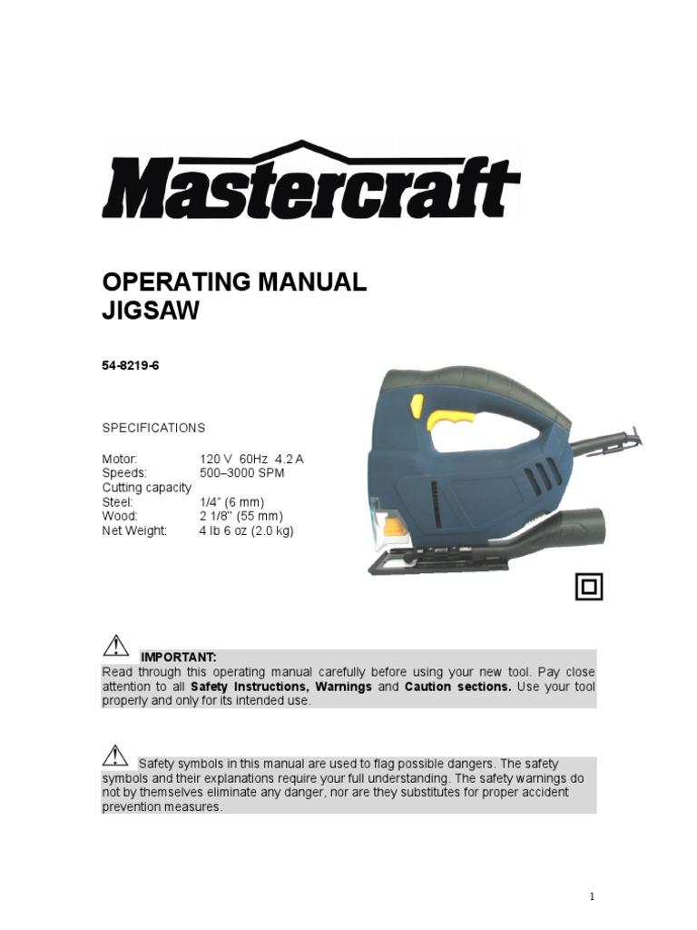 Mastercraft JigSaw 54-8219 E 4.7 | Ac Power Plugs And Sockets | Insulator  (Electricity)