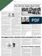 Derek Sawvell's Jan. 31 AN column