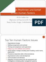 Human Factors and Sleep 2013