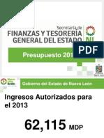 Presupuesto del Poder Ejecutivo del Estado de Nuevo León para 2013