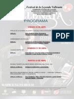 Programa Del 46 Festival de La Leyenda Vallenata