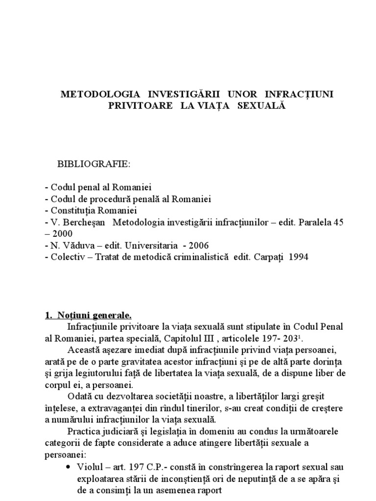 Coruptie sexuala cod penal