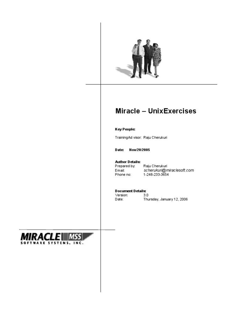 Miracle Unix Exercises V3   Operating System   File System
