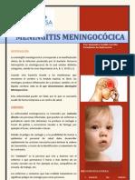 folleto de meningitis meningocócica