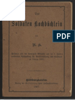 Kochbuch - Des Soldaten Kochbuchlein 1887