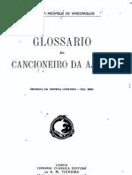 Glossário do Cancioneiro da Ajuda, por Carolina Michaelis