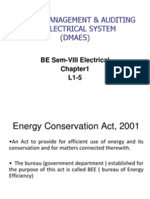Energy Conservation Act, 2001 | Energy Conservation