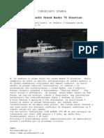 Vendita Yacht Longrange - Dolcenera Grand Banks 76 Aleutian