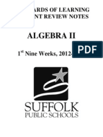 algebra 2 crns 12-13 1st nine weeks