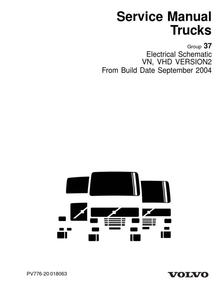 VOLVO VNL DIAGRAMAS ELECTRICOS COMPLETOS Pdf on Motor Volvo D12