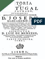 História de Portugal restaurado, pelo Conde da Ericeira, vol. 1