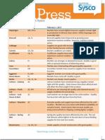 Targeted Fresh Press 2.1.2013