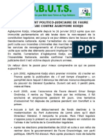 ACHARNEMENT POLITICO-JUDICIAIRE DE #TOGO