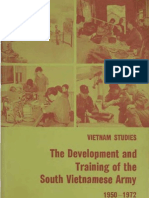 Vietnam Studies Development and Training of the South Vietnamese Army 1950-1972
