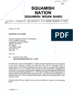 Squamish Nation Bylaws Zoning amendment January 25, 1994