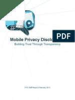 FTC Mobile Privacy Report