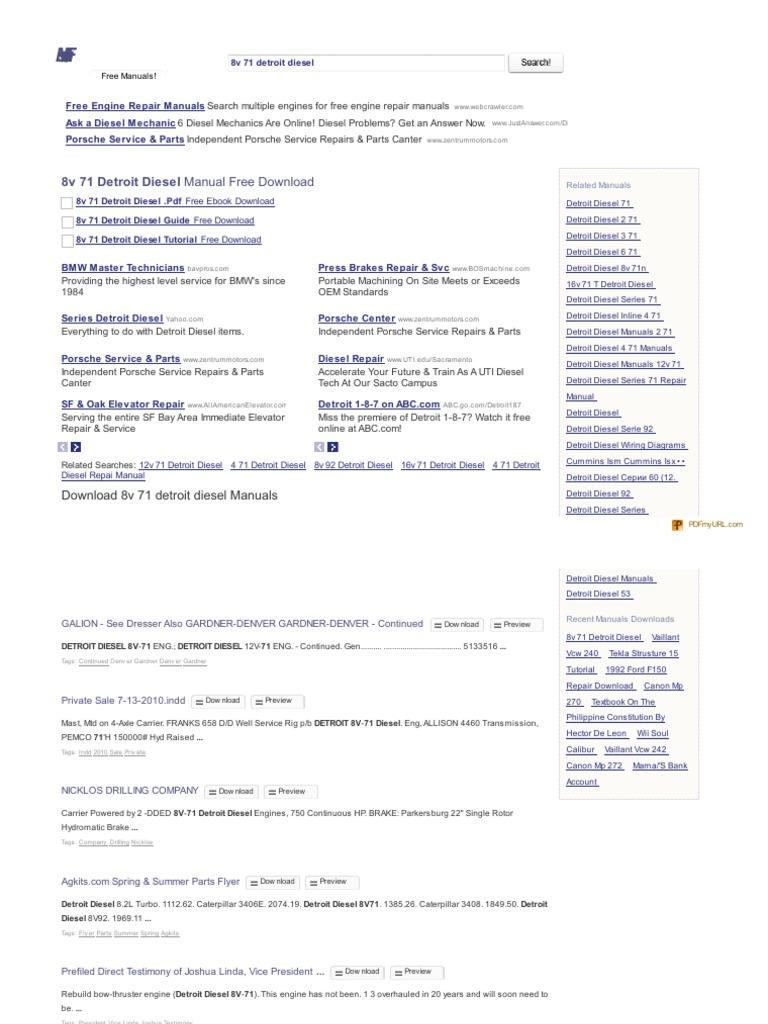 8v92 Detroit Service Manual Ebook Ingersoll Rand Transporter Wiring Diagram Free Download Array 38003571 The Manuals Com 8v 71 Diesel Pdf Rh Pt Scribd