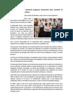 24-01-2013 Prepara Aristóteles Sandoval programa alimenticio para combatir la pobreza extrema en Jalisco