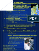 Credit Crunch Europe - Impact on SMEs