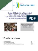 Dossier de presse. Budget 2009