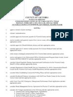 Victoria County Commissioners Agenda, Feb. 4