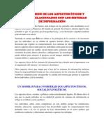 COMPRENSION DE LOS ASPECTOS ÉTICOS Y SOCIALES RELACIONADOS CON LOS SISTEMAS DE INFORMACIÓN