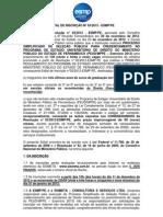 EDITAL DE INSCRIÇÃO Nº 032012 - ESMP PE