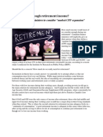"""How much is enough retirement income?Canadian finance ministers to consider """"modest CPP expansion"""" by Michael Wolfson"""
