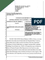 Goldfinger motion requesting return of seized assets, December 2008