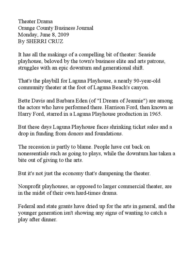 Ocbj Laguna Playhouse | Theatre | Entertainment (General)