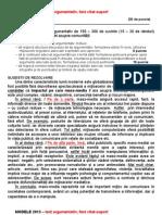 bacalaureat 2013 - Proba scrisa, subiectul al II-lea