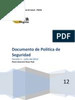 Documento de Política de seguridad (Tesis)