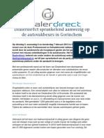 Dealerdirect sprankelend aanwezig op de autovakbeurs in Gorinchem
