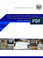 Informe PDDH Cerro Blanco