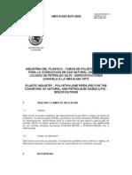 Nmx-e-043-Scfi-2002 Tubos de Polietilieno Gas Natural y Lp