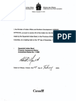 Squamish Nation Bylaws Property Assessment Amendment, Feb 8, 2000