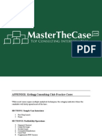 Kellogg Casebook 2001 for Case Interview Practice | MasterTheCase