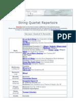 String Quartet Repertoire