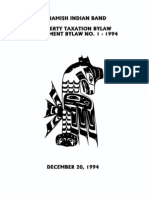 Squamish Nation Bylaws Property Taxation Amendment Bylaw_1-Dec 20, 1994