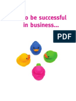 Passion for Creative - How to be Successful in Business... Get all your Ducks in a Row