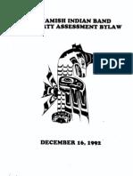 Squamish Nation Property Assessment Bylaw-Dec 31, 1992