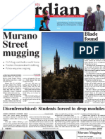 Glasgow University Guardian - September 29th 2008 - Issue 1