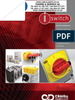Craig & Derricott Isolators & Switch Disconnectors Catalogue