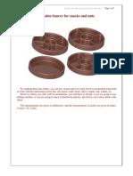Planos de Platillo de Madera Para Aperitivos y Frutos Secos