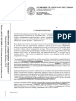 Warning letter from State of Colorado for operating without workers compensation insurance