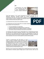Contaminacion Del Suelo y Agua