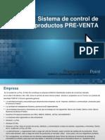 Sistema de Control de Productos PRE-VENTA