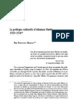 Harvey, F. - La politique culturelle d'Athanase David, 1919-1936