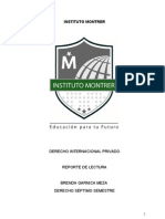 Derecho Internacional Privadop Reportes