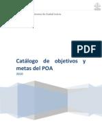 Catálogo de objetivos y metas del POA